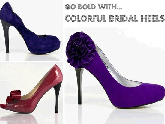 Colorful sky high bridal heels from Love by Enzoani's 2011 collection