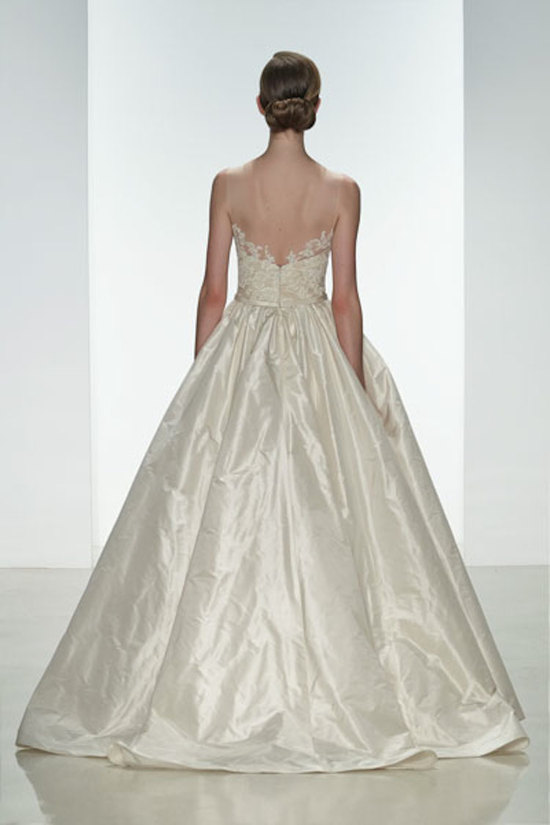 Dramatic Tafetta Ballgown with Lace in the Back