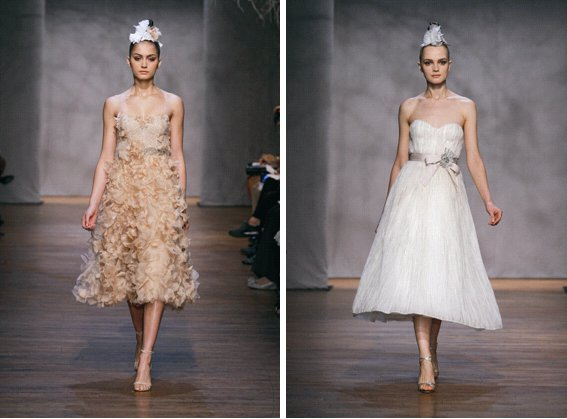 Monique Lhuillier Fall 2011 Wedding Dresses Pastel Twiggy
