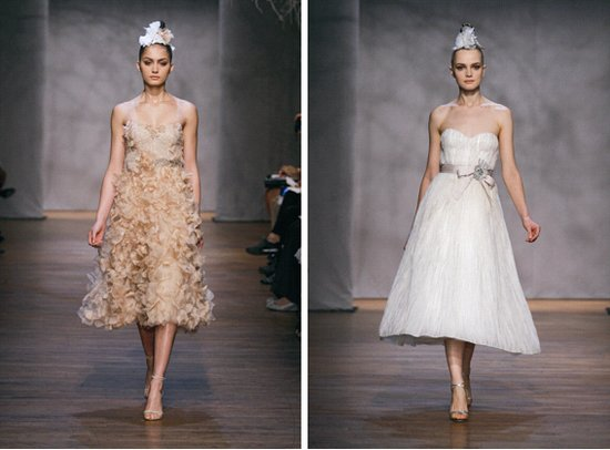 Monique Lhuillier Fall 2011 Wedding Dresses Pastel Twiggy