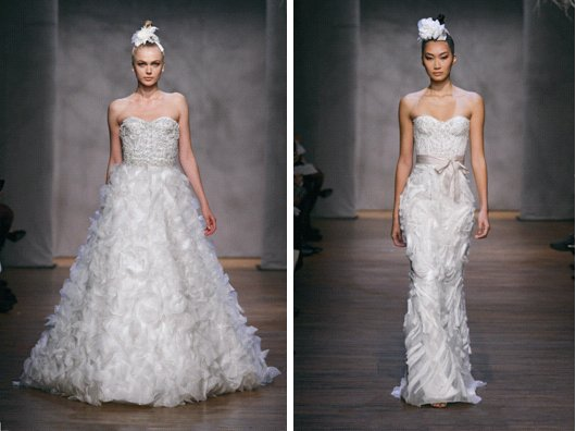 Monique Lhuillier Fall 2011 Wedding Dresses Tumberose Lavender