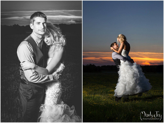 Mindy Joy Photography Rockford IL Sunset Bridal Portrait wedding