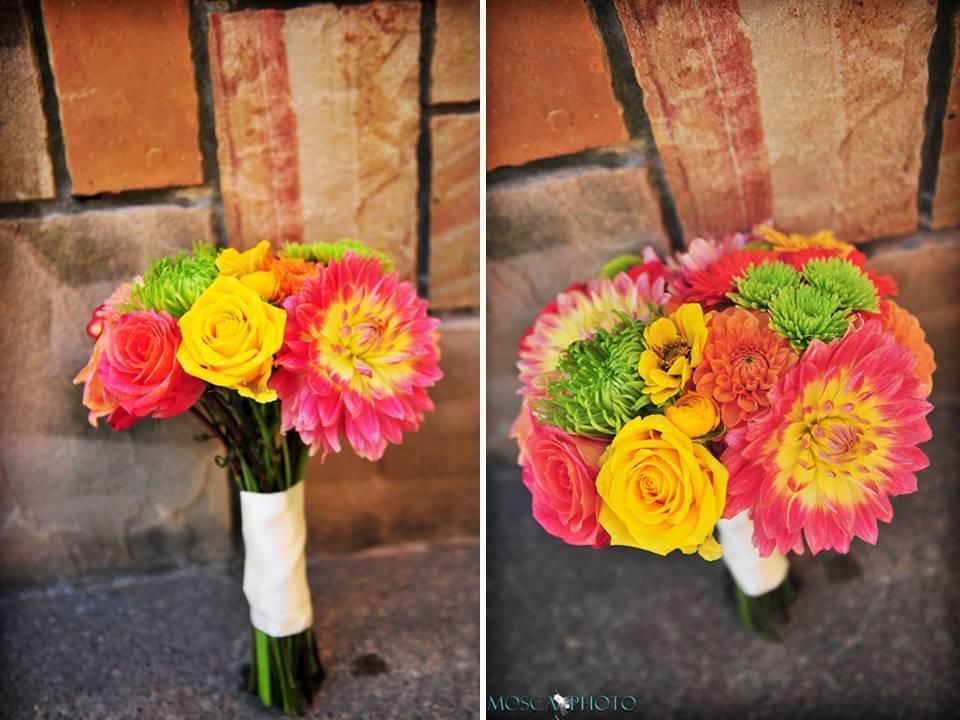 Portland-oregon-vineyard-wedding-garden-outdoor-bright-wedding-flowers-pink-yellow-green-bridal-bouqet.full