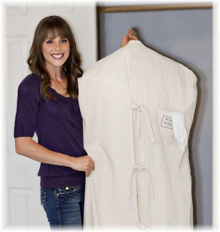 Museum Method wedding dress preservation hangs in closet and is best ...