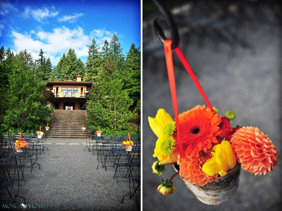 Outdoor-vineyard-wedding-portland-oregon-bright-wedding-flowers-ceremony-decor.full