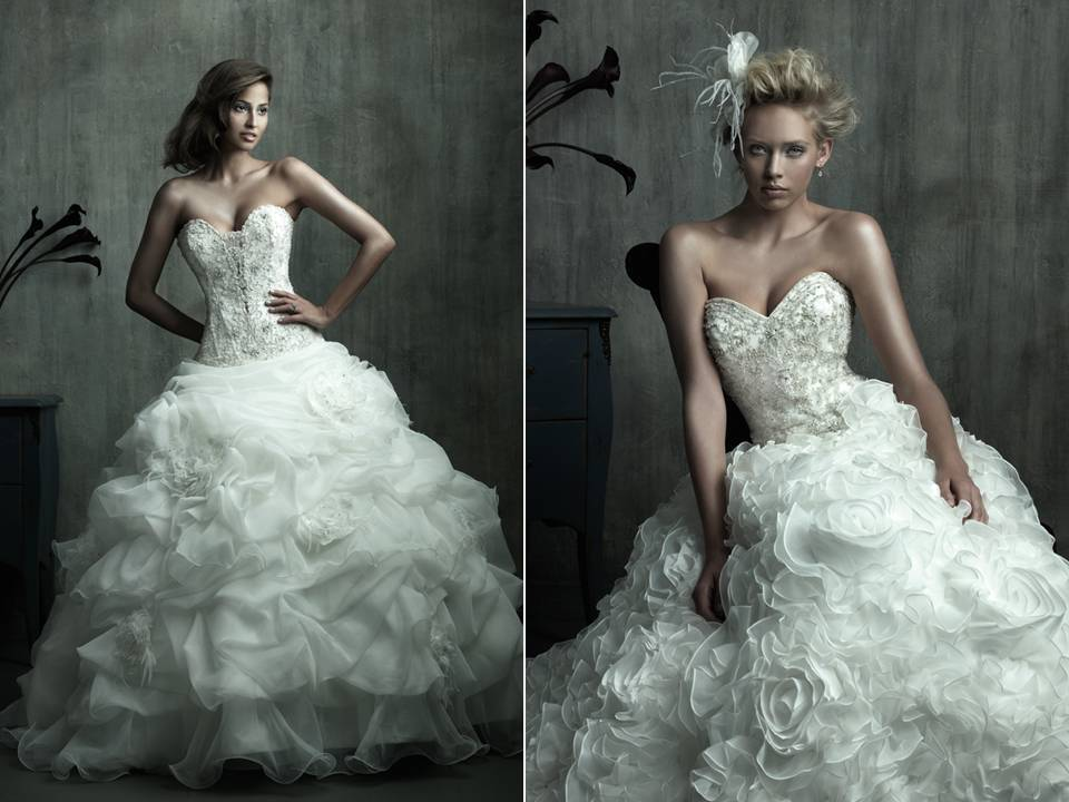Huge Wedding Ball Gowns: Opulent Full Ball Gown Wedding Dresses From Allure Bridal