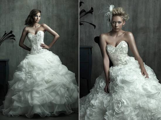 Opulent full ball gown wedding dresses from Allure Bridal's 2011 Couture line