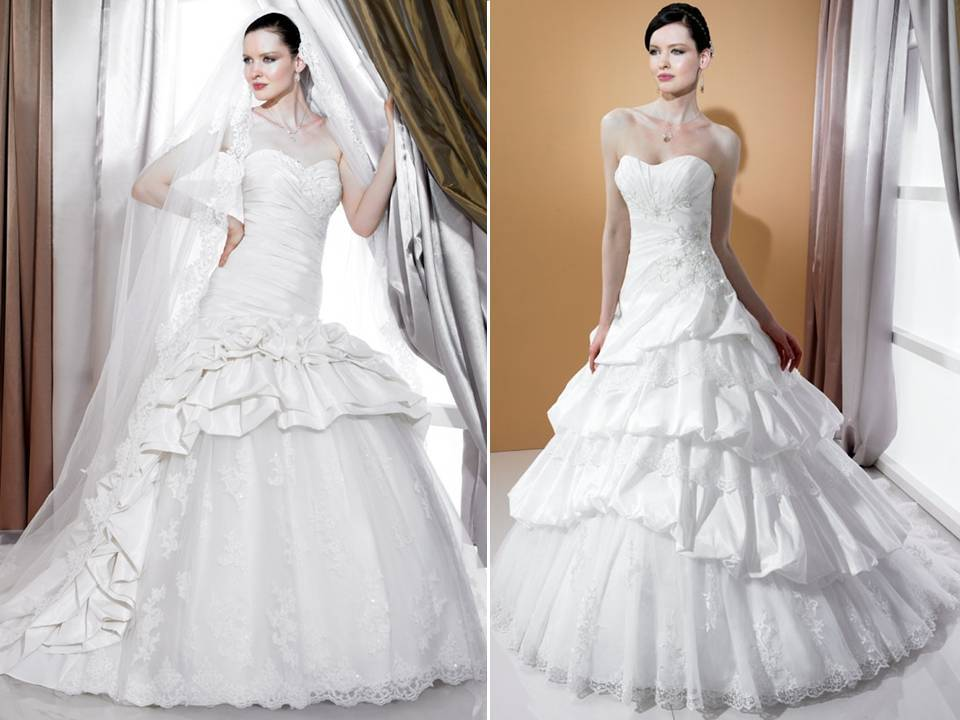 Satin Ball Gown Wedding Dress: Regal Tulle And Satin 2011 Ball Gown Wedding Dresses By