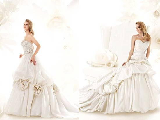 Champagne ball gown 2011 wedding dress from Simone Caravalli