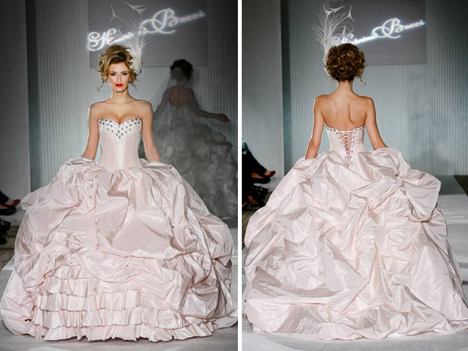 Blush Ball Gown Wedding Dress: Katerina Bocci 2011 Blush Pink Ballgown Wedding Dress