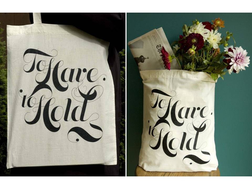Natural-cotton-tote-bag-black-silk-screen-writing-to-have-and-to-hold-bridesmaids-gifts.full