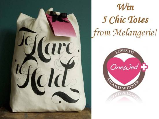 photo of Melangerie- Tie the Knot & To Have and To Hold chic tote bags for the bride & her bridesmaids