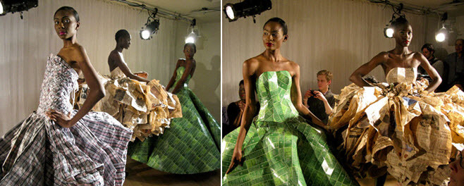 Couture-wedding-dress-wearable-art-recycled-eco-chic-fashion-show-plaid-ballgown.full