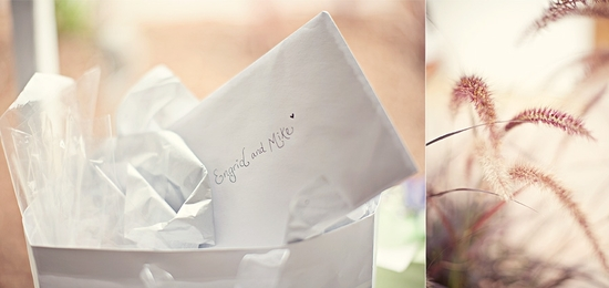 Handwritten wedding notes to the happy newlyweds