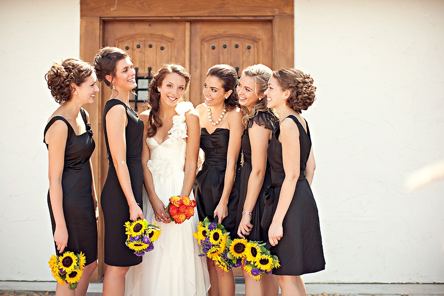 One Shoulder Bridesmaid Dress Hairstyle