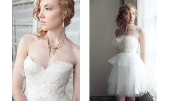 Chic-contemporary-bridal-jewelry-statement-necklace-lace-wedding-dress.full