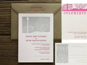 photo of 2011 Trends for Wedding Invitations and Stationery: Cool Hues, Vintage Fonts