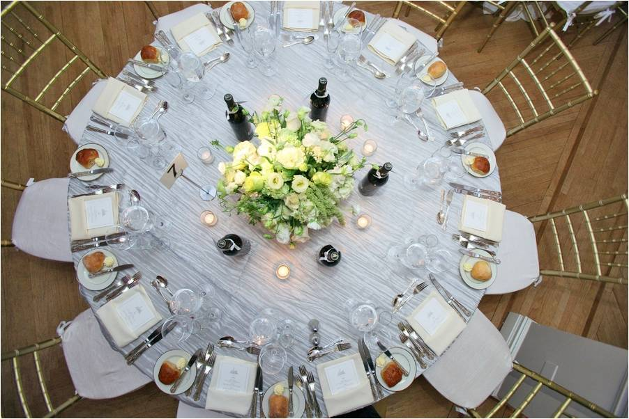 Chic downtown Manhattan wedding reception tablescape