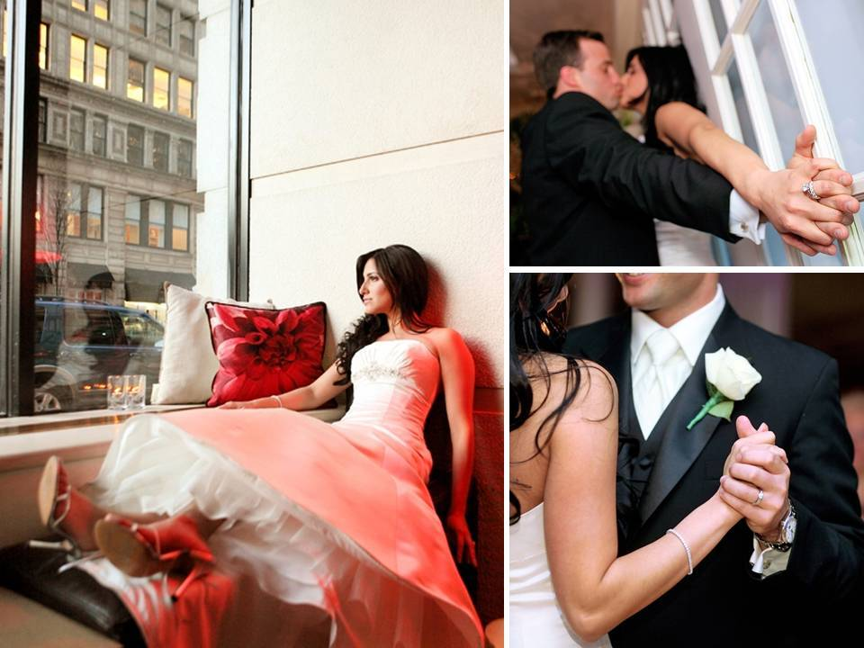 Downtown-chic-manhattan-new-york-wedding-simone-carvalli-ivory-strapless-wedding-dress-groom-in-black-tux.full