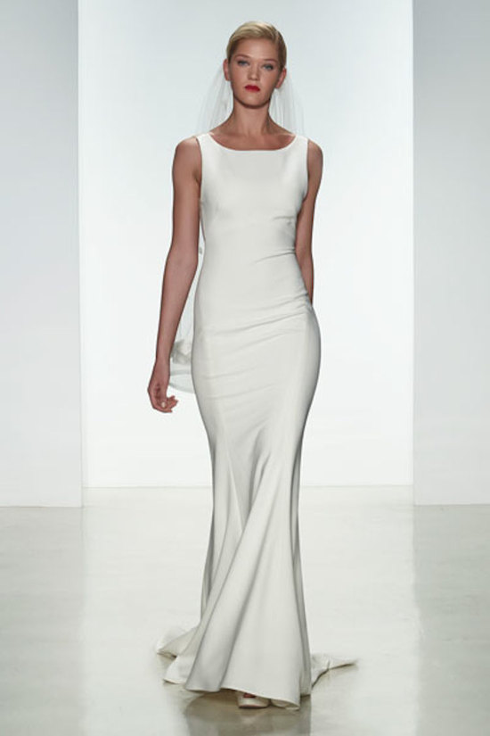 photo of Fit to flare with bateau neckline