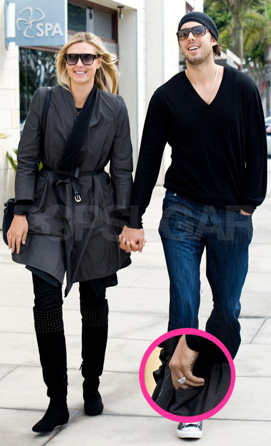 photo of Maria Sharapova Scores a $250,000 Engagement Ring from LA Laker Beau!