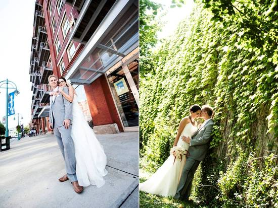Gorgeous Milwaukee bride and groom take romantic couples photos
