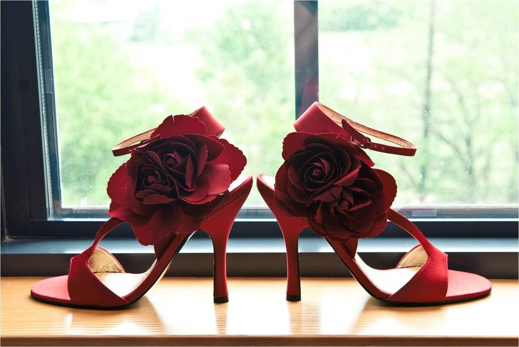 Chic-red-open-toe-bridal-heels-floral-rosette-on-strap.full