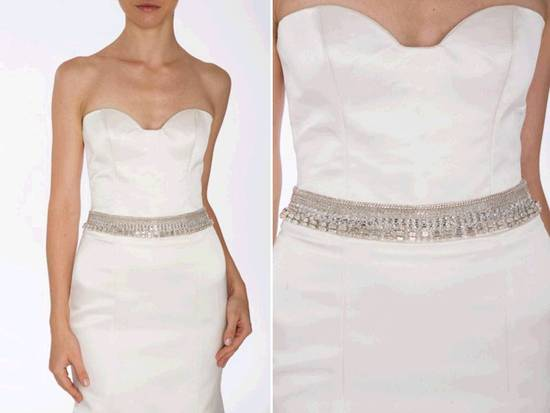 Dazzling Michelle Rahn bridal belt with rows of swarovski crystals