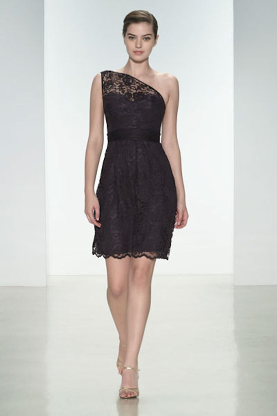 One Shouldered Lace