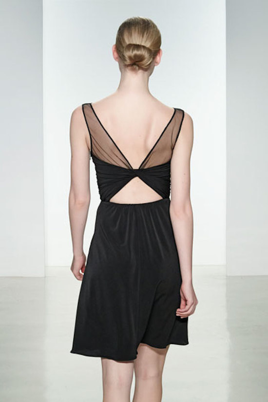 Illusion Back Jersey Dress