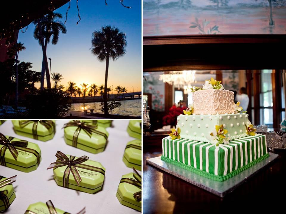 Fort-meyers-florida-wedding-modern-wedding-cake-sage-green-chocolate-brown-wedding-reception-decor.full