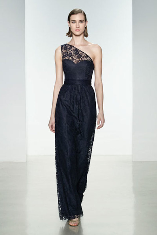 Long Lacey One Shoulder