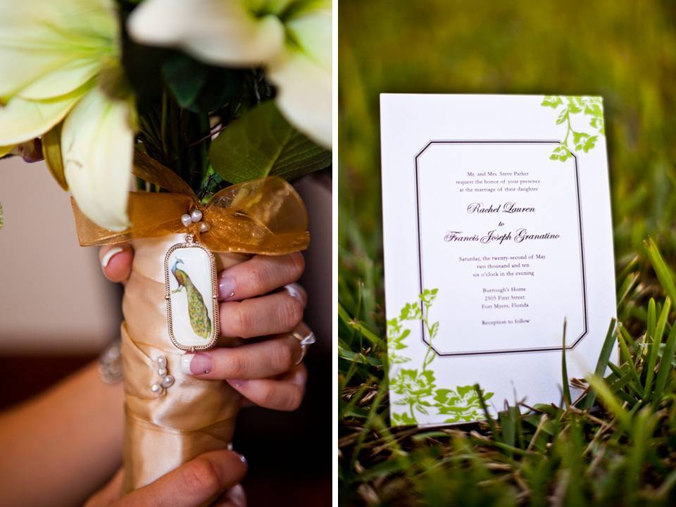 Outdoor-chic-summer-wedding-green-brown-wedding-invitations-white-bridal-bouquet.full