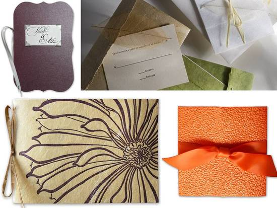 Eco-chic wedding stationery from InviteSite