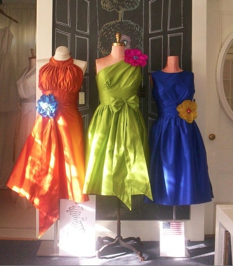 Eco-chic bright bridesmaids' dresses from SEAMS Bridal Couture & Partywear