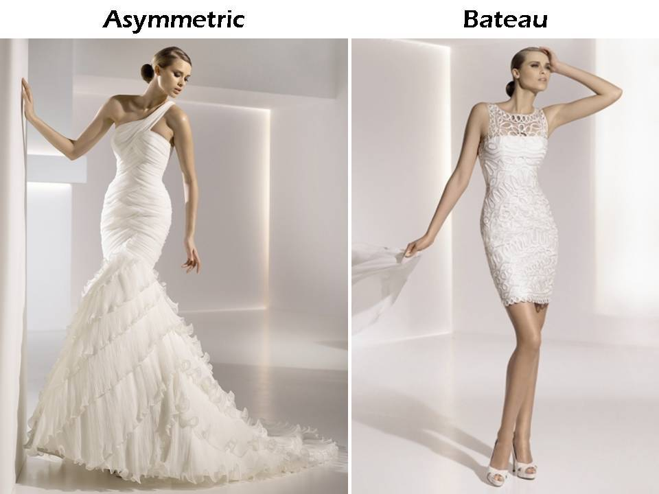 Wedding-dress-styles-101-necklines-one-shoulder-asymmetric-bateau-neck-pronovias-wedding-dresses.full