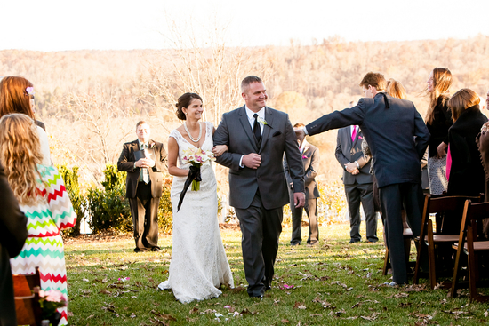 photo of Charming, Outdoor, Real Wedding in the Fall
