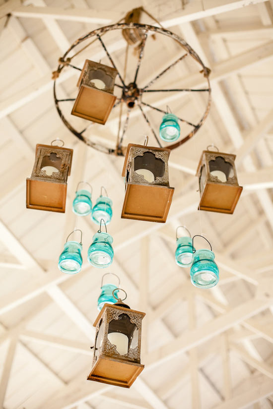 Lantern and Mason Jar Chandelier
