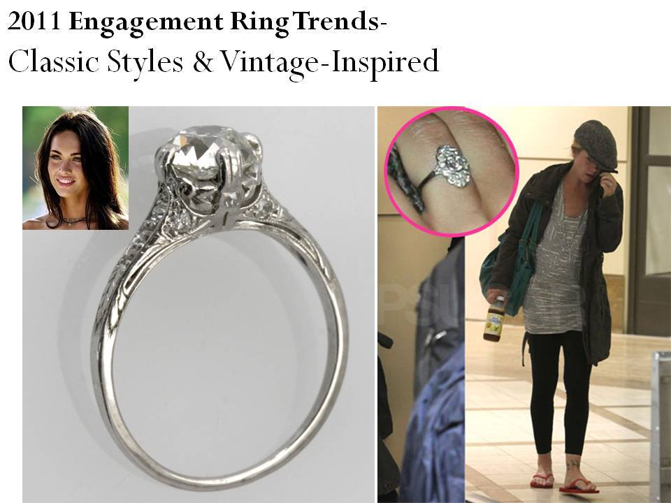 inspired engagement rings and classic styles are ontrend for 2011