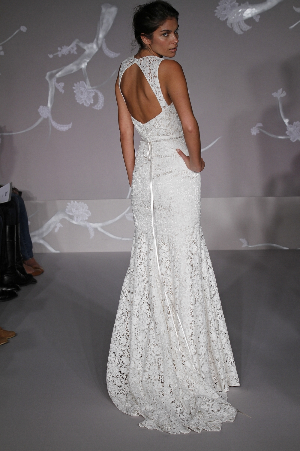 White Lace Mermaid Style Wedding Dress With Open Back From Blush By JLMs Spring 2011 Collection