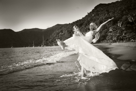 Tropical island wedding st lucia beach wedding