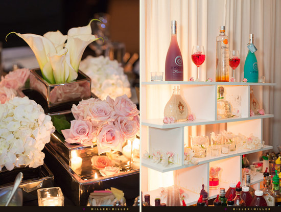soft-colored-reception-liquor-bottles-flowers