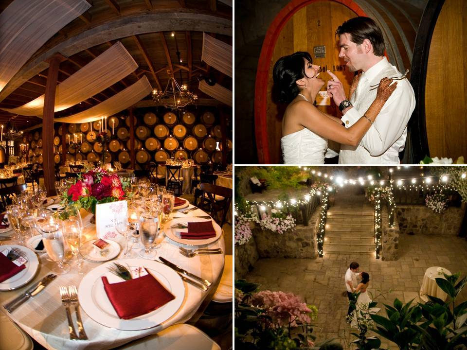 Opulent-winery-wedding-red-gold-wedding-color-palette-chic-tablescapes.full
