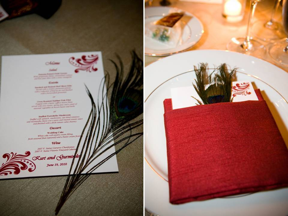 Red White And Gold Wedding Reception Decor And Stationery With