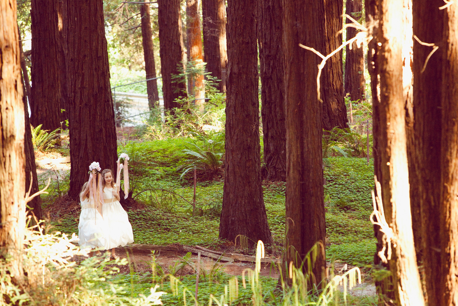 Flower Girls in the Forest