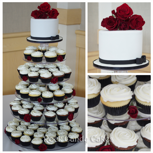 Black And Red Cupcake Tower