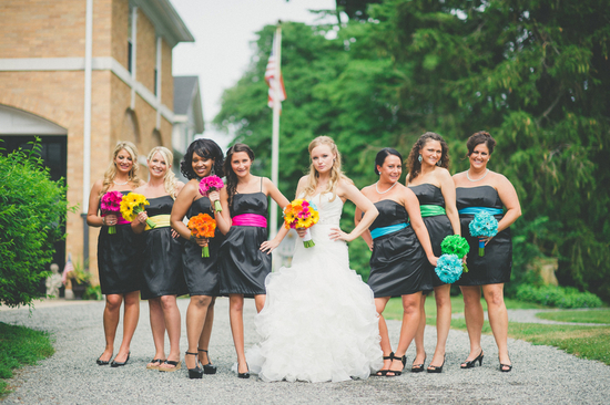 Sassy and Colorful Bridal Party