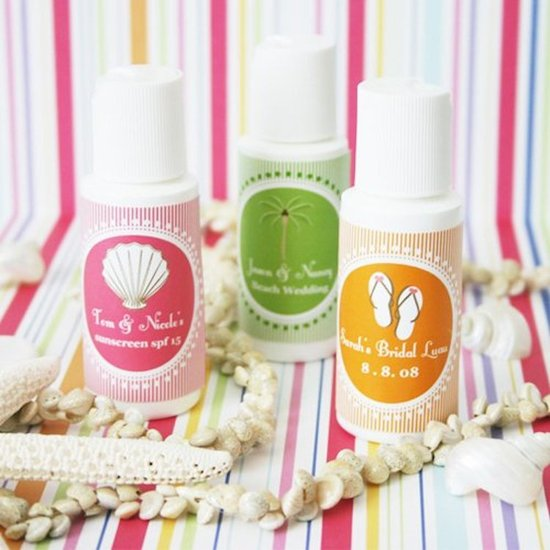 Personalized Sunscreen Favors