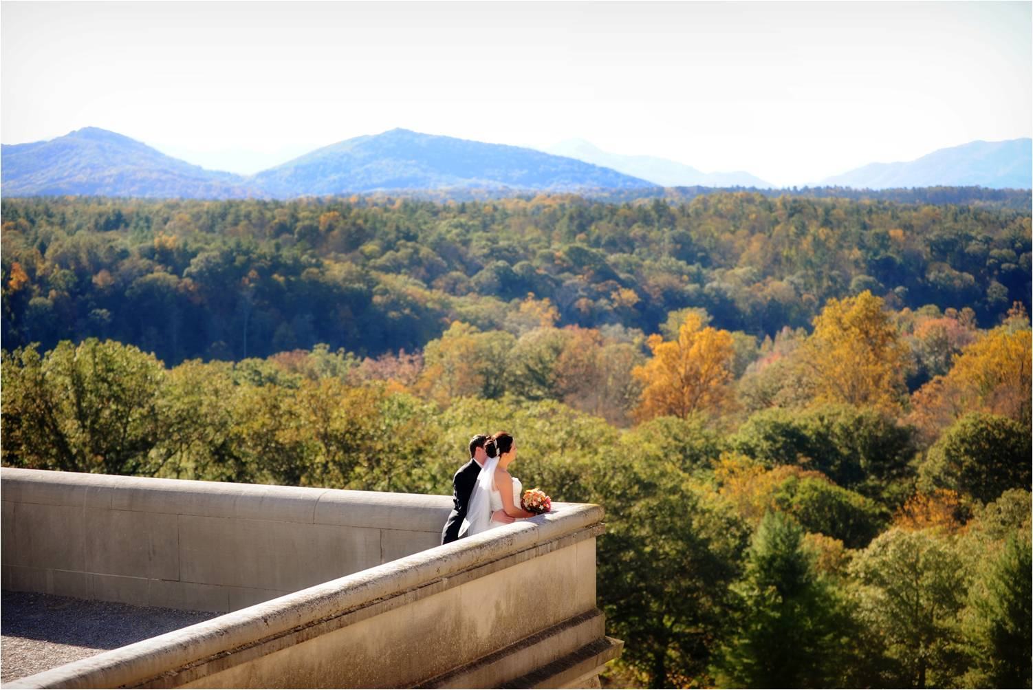 North Carolina Wedding Venue Situated Amidst Gorgeous Trees And Sprawling Mountains | OneWed.com