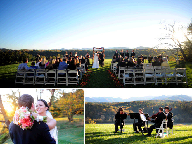 Gorgeous North Carolina wedding venue with mountain views